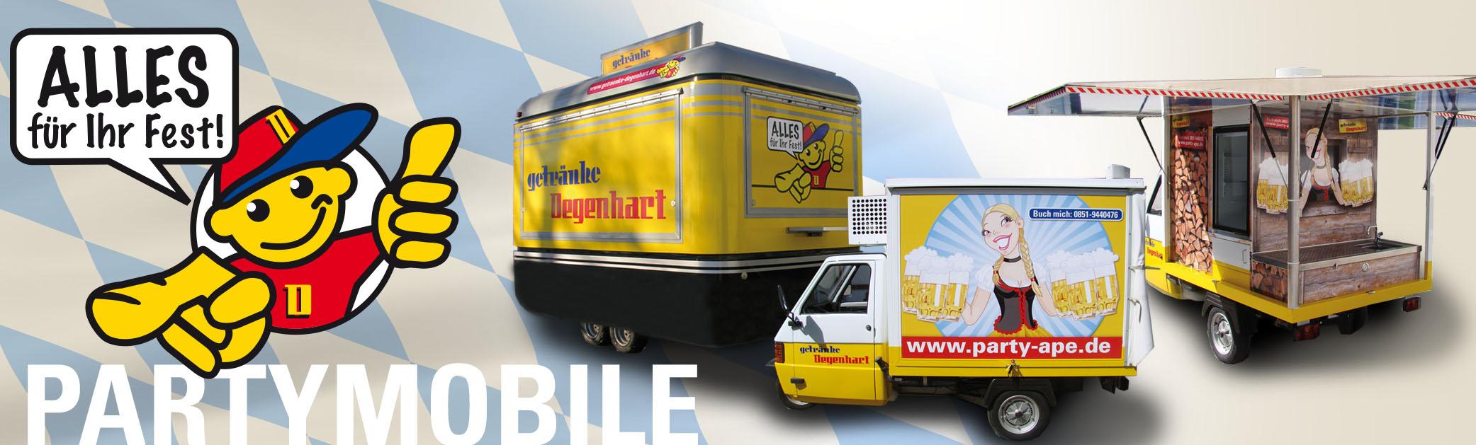 Getränke Degenhart - Getränke Degenhart Festservice Partymobile
